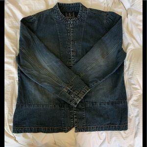 INC distressed denim jacket